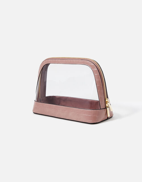Large Clear Make Up Bag , Pink (PINK), large