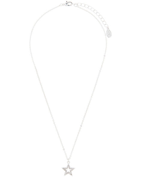 Pavé Star Pendant Necklace, , large