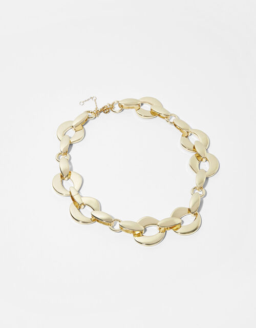 Gold-Plated Chunky Chain Necklace, , large
