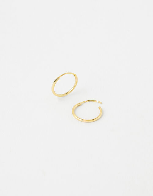 Gold-Plated Sterling Silver Mini Hoops, , large