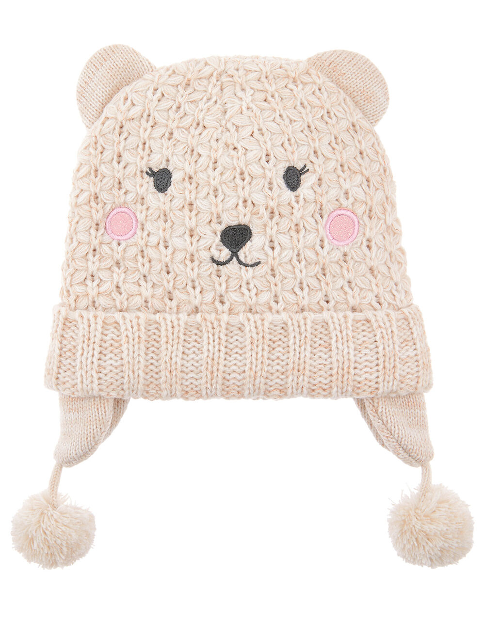 Polar Bead Knit Chullo Hat, Natural (IVORY), large
