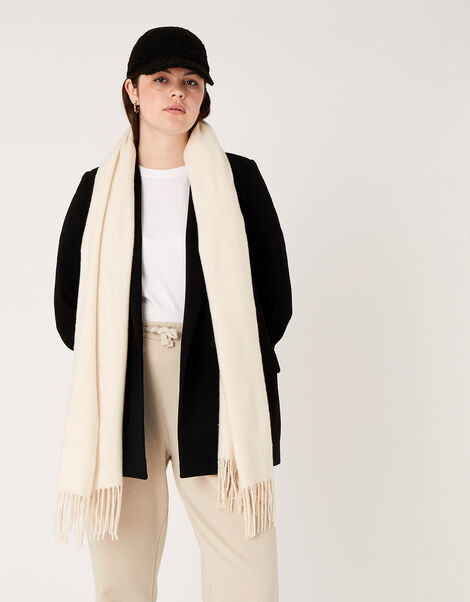 Luxe Blanket Scarf in Wool Blend, , large