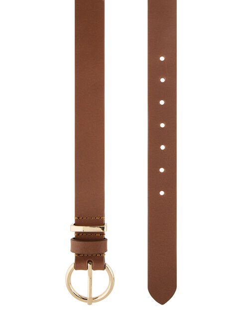 Tan Leather Belt, Tan (TAN), large