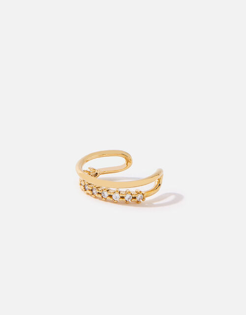 Gold-Plated Sparkle Ear Cuff, , large