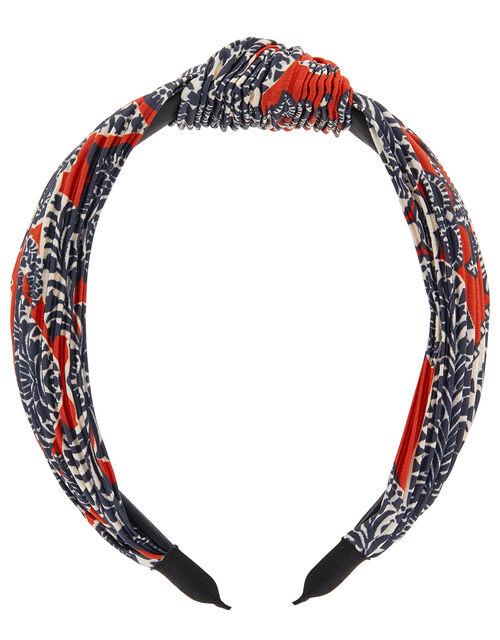Floral Crinkle Knot Headband, , large