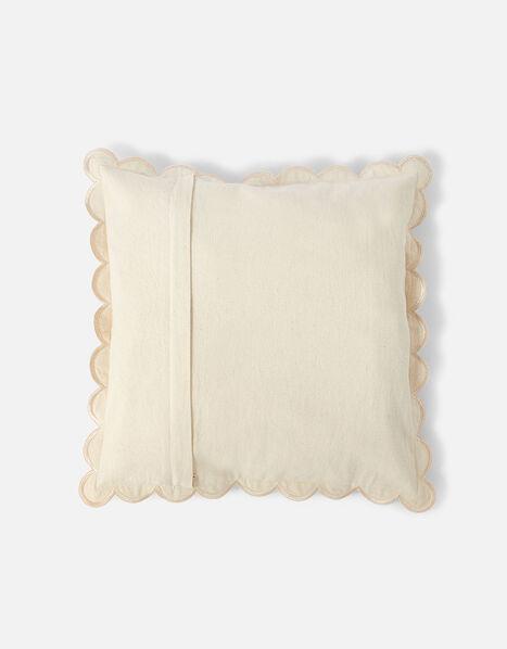 Scallop Edge Cushion Cover Natural, Natural (NATURAL), large