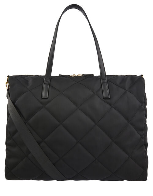 Harri Quilted Weekender Bag, Black (BLACK), large