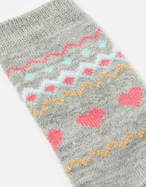 Fairisle Print Thermal Socks , , large