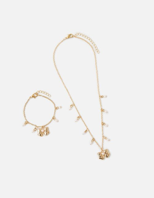 Pearly Bow Jewellery Set , , large