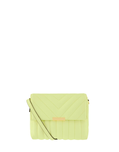 Chantelle Quilted Cross-Body Bag, Green (LIME), large