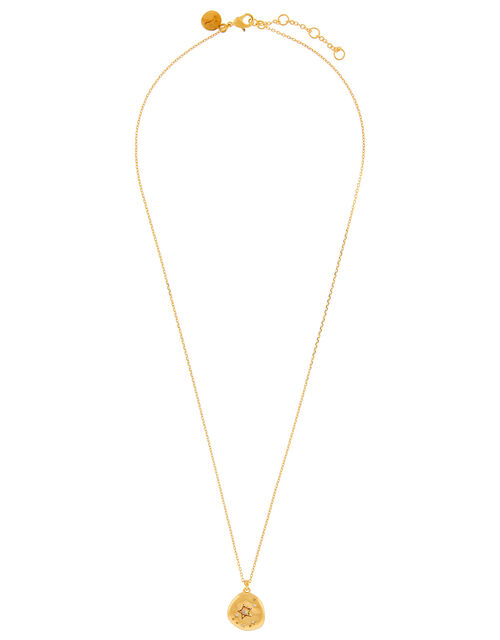 Gold-Plated Opal Zodiac Necklace - Capricorn, , large