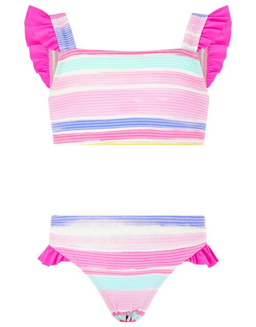 Seersucker Stripe Bikini Set, Multi (BRIGHTS-MULTI), large
