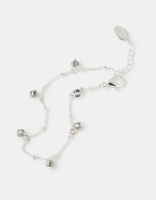 Facet Droplet Bead Bracelet, , large