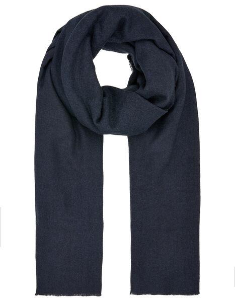 Wells Supersoft Blanket Scarf Navy Blue, Blue (NAVY), large