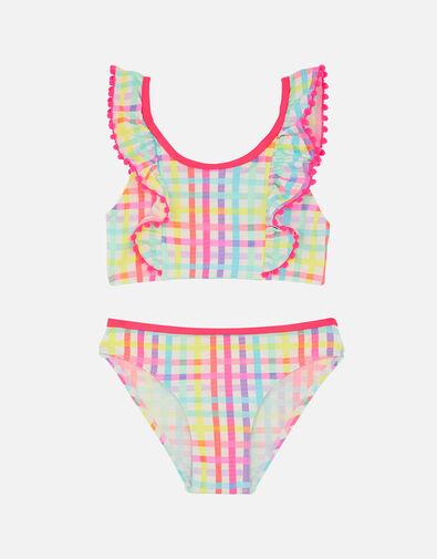 Rainbow Check Bikini Set Multi, Multi (BRIGHTS-MULTI), large