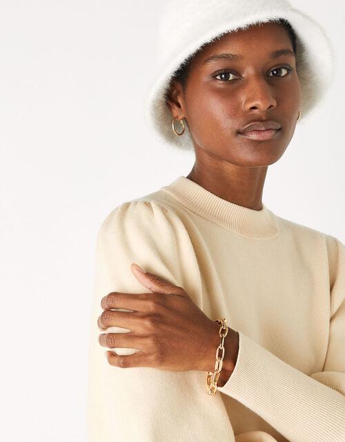 Simple Medium Chain Bracelet, Gold (GOLD), large