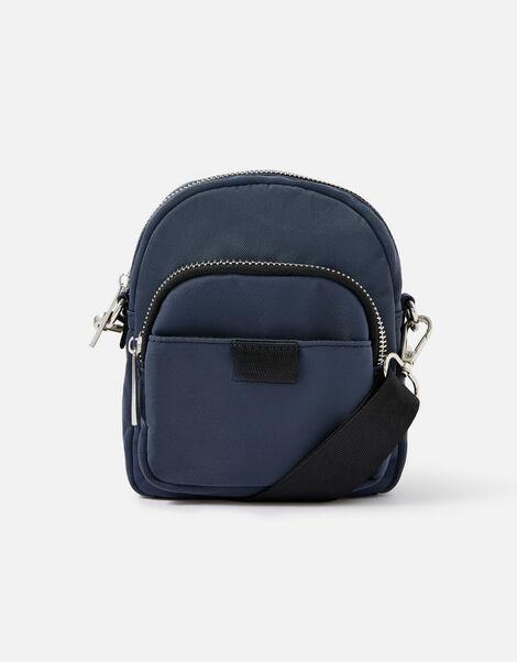 Maya Small Nylon Cross-Body Bag  Blue, Blue (BLUE), large