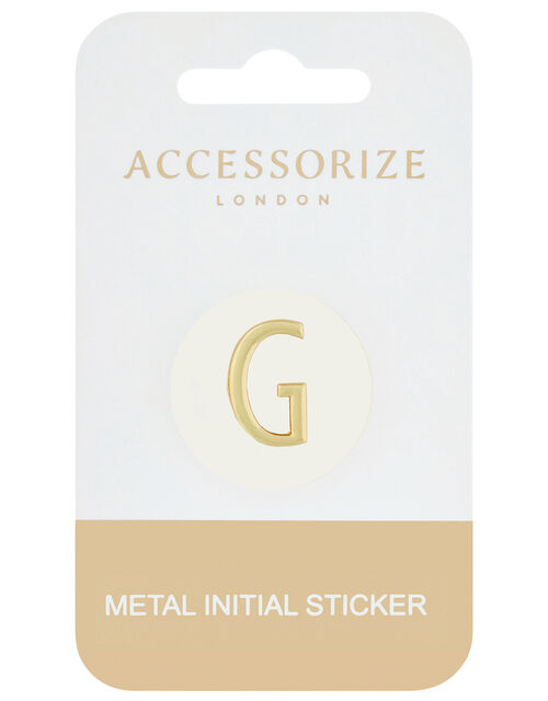 Metallic Initial Sticker - G, , large