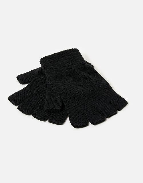 Plain Fingerless Gloves Multipack, , large