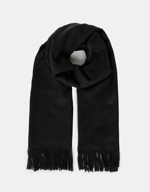 Holly Super-Soft Blanket Scarf Black, , large