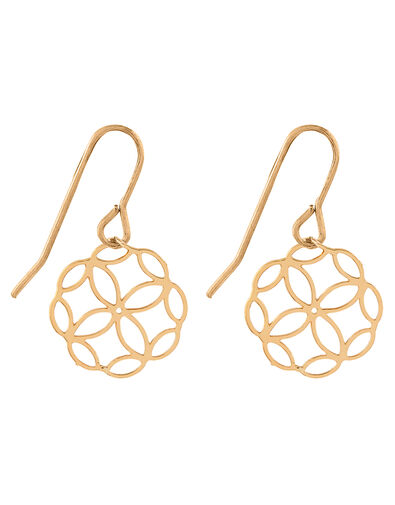 Filigree Short Drop Earrings, , large