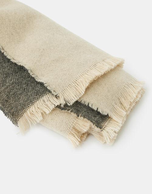 Wells Antibacterial Two-Tone Blanket Scarf, Multi (PASTEL-MULTI), large