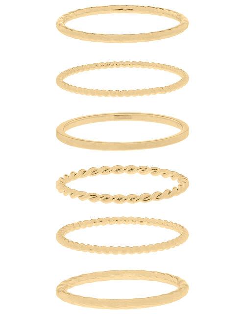 Slim Stacking Ring Set, Gold (GOLD), large