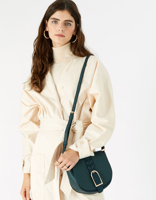 Shania Suedette Cross-Body Bag , Teal (TEAL), large