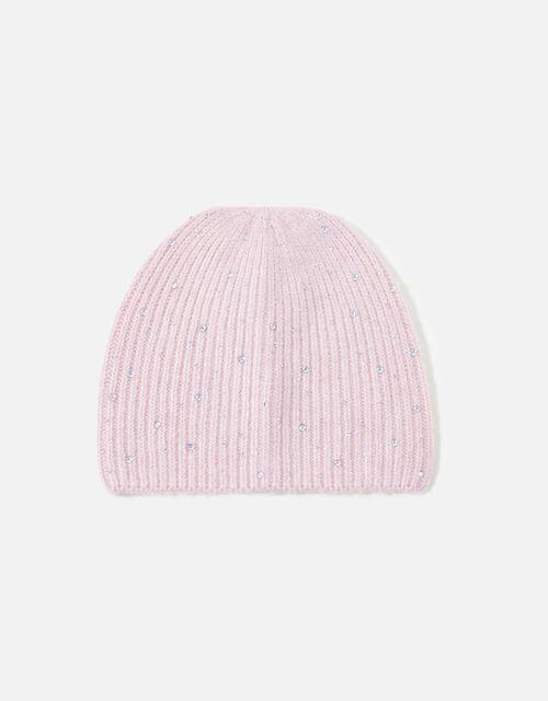 Sparkle Gem Beanie, Pink (PINK), large
