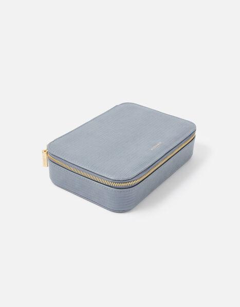 Josie Croc Jewellery Box Blue, Blue (BLUE), large