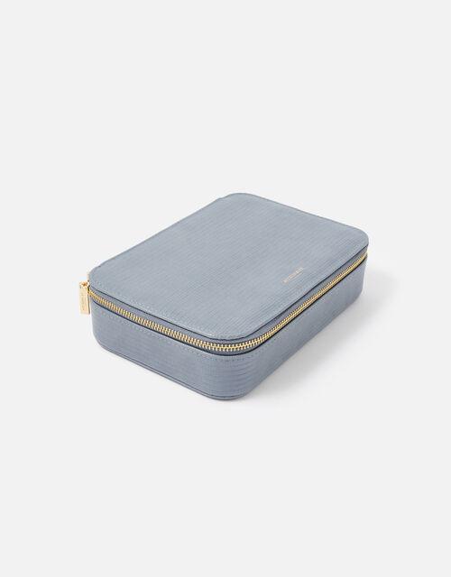Josie Croc Jewellery Box, Blue (BLUE), large
