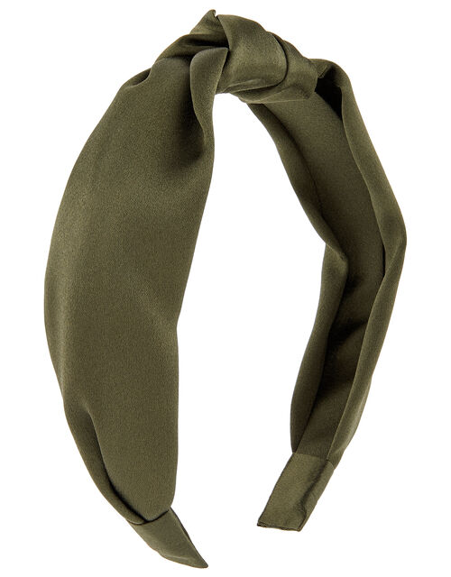 Wide Satin Knot Headband, , large