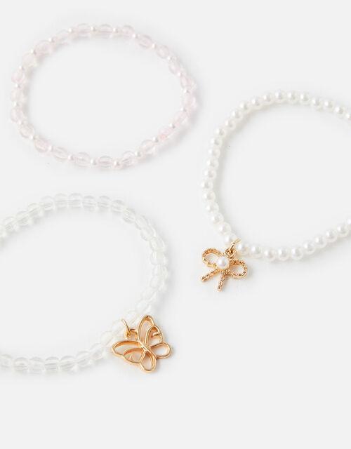 Pearly Stretch Bracelet Set, , large