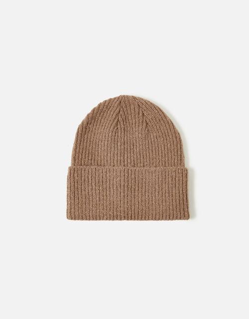Soho Knit Beanie Hat, Camel (CAMEL), large