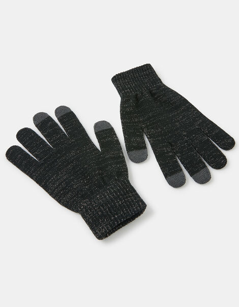 Shimmer Knit Touchscreen Gloves Grey, Grey (GREY), large