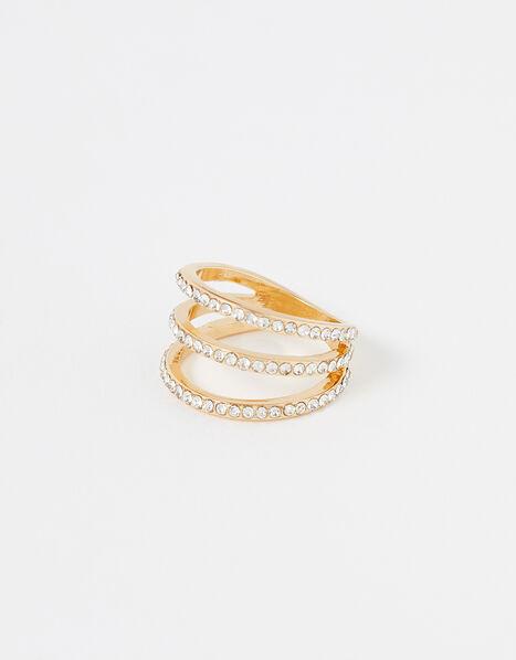 Pave Triple-Layer Ring White, White (CRYSTAL), large