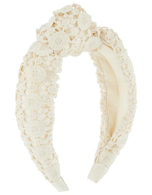 Crochet Lace Knot Headband, , large