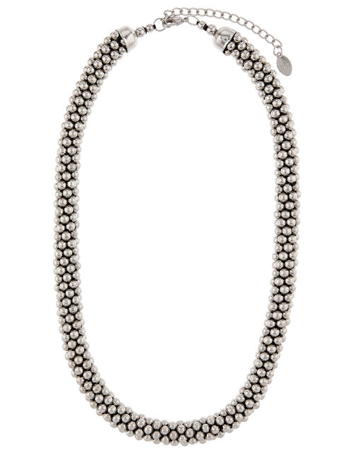 Bobble Necklace and Bracelet Set, Silver (SILVER), large