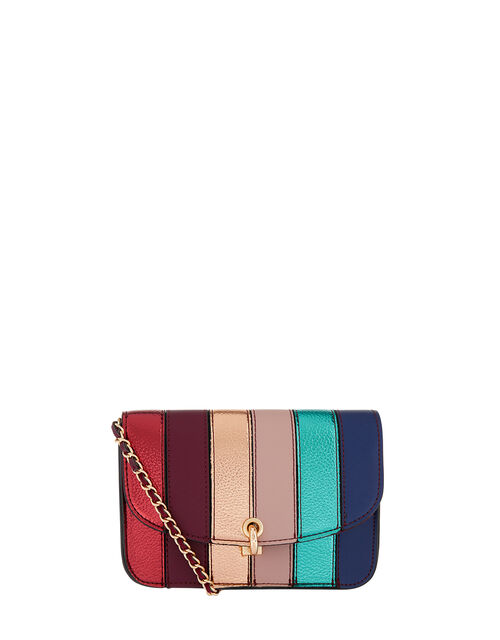 Edie Rainbow Cross-Body Bag, , large