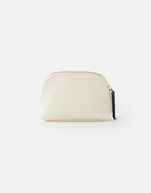 Zip Pouch Bag, Cream (CREAM), large