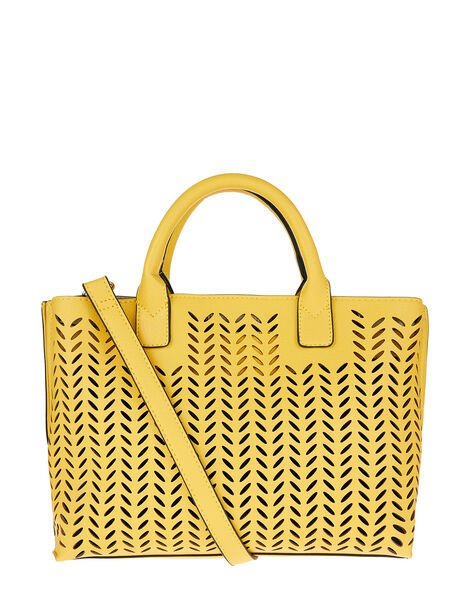 Cut-Out Handheld Bag Yellow, Yellow (YELLOW), large