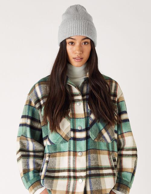 Soho Knit Beanie Hat, Grey (LIGHT GREY), large