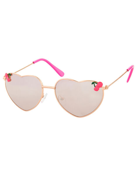Cherry Heart Aviator Sunglasses, , large