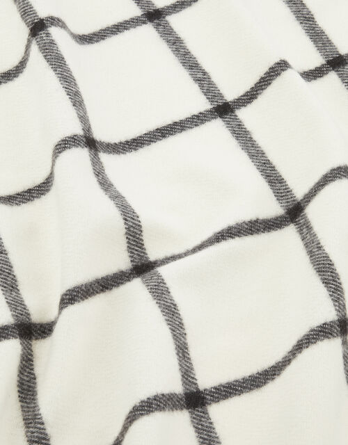 Carter Windowpane Check Blanket Scarf, , large