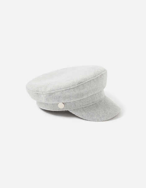 Baker Boy Hat  Grey, Grey (LIGHT GREY), large
