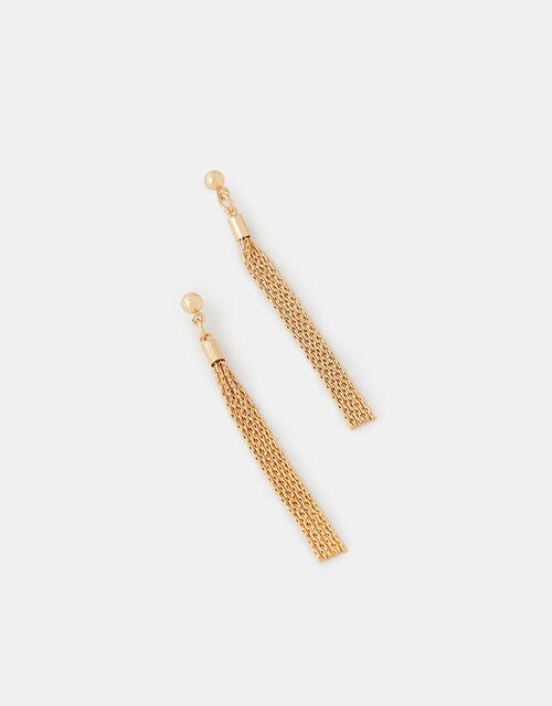 Slinky Chain Drop Earrings, , large