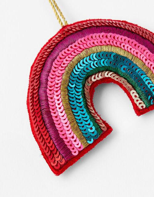 Embellished Rainbow Hanging Decoration, , large