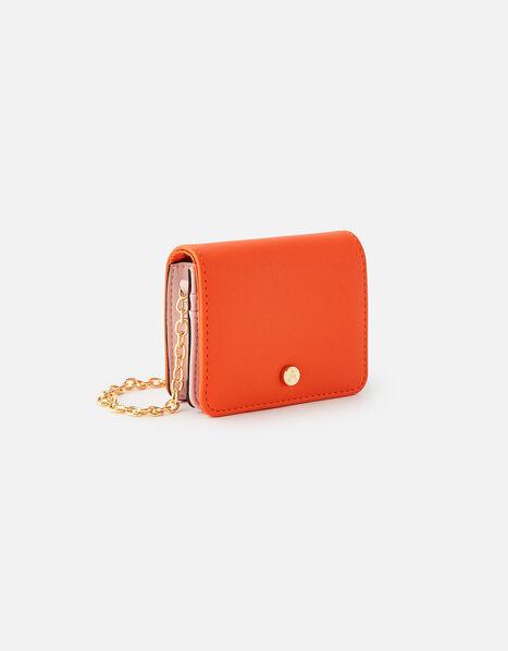 Cali Colourblock Chain Cardholder Orange, Orange (ORANGE), large