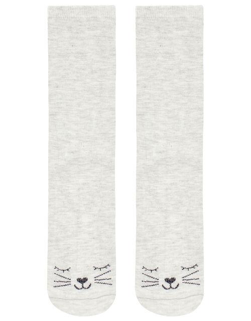 Sasha Sparkle Cat Ankle Socks, , large