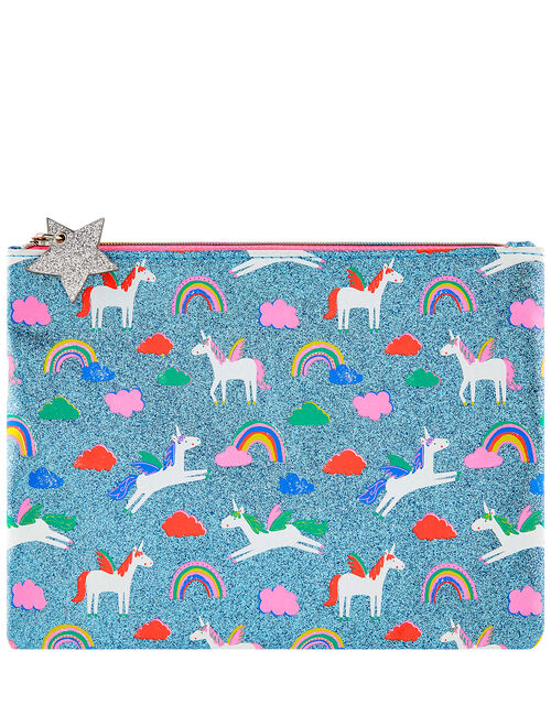 Glitter Unicorn Pencil Case, , large